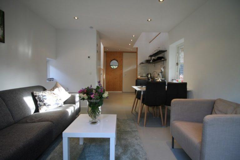 Woudstee luxe vakantiehuis Anthonia Veluwe woonkamer