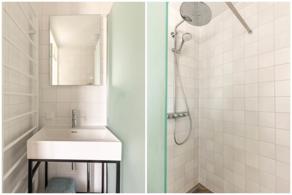 Woudstee Cornelia badkamer met heerlijke regendouche