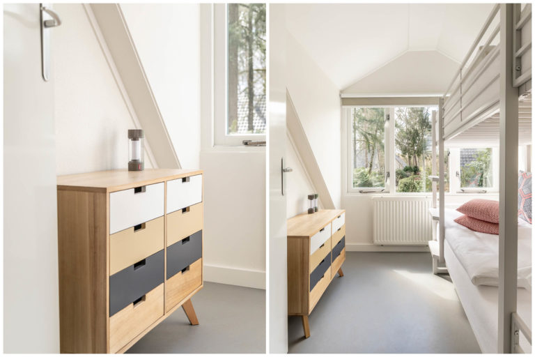 Woudstee Cornelia kleine slaapkamer met stapelbed