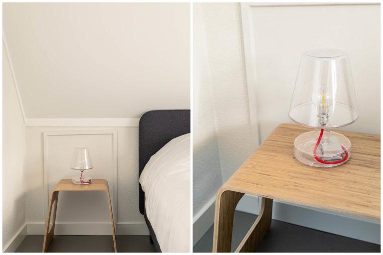 Woudstee Cornelia slaapkamer met design lamp