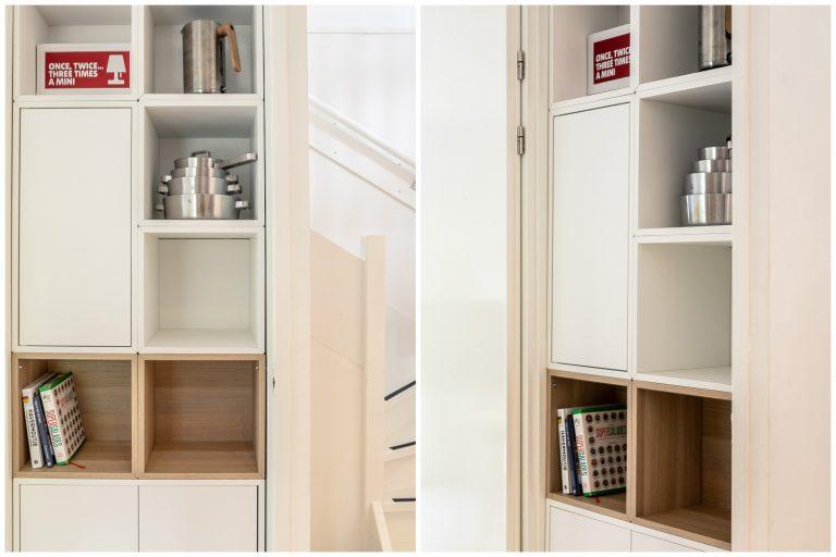 Antonia boekenkast woonkamer bij Woudstee