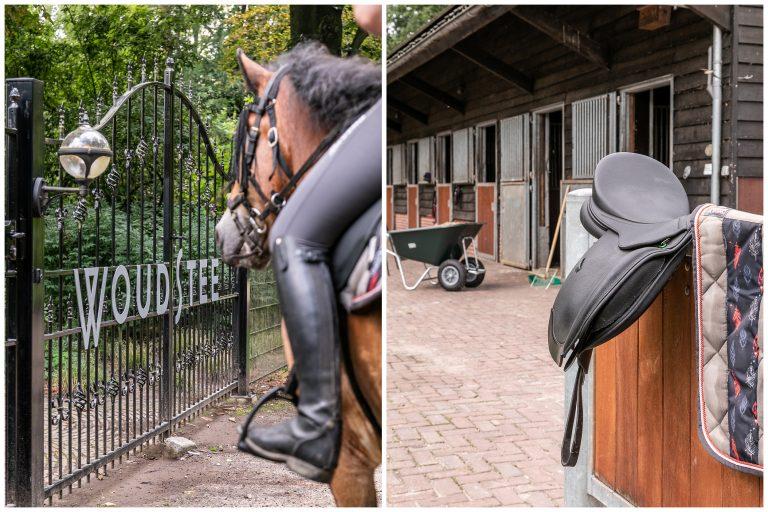 Antonia entree toegangshek bij Woudstee binnekomst met paard naar paardenstallen
