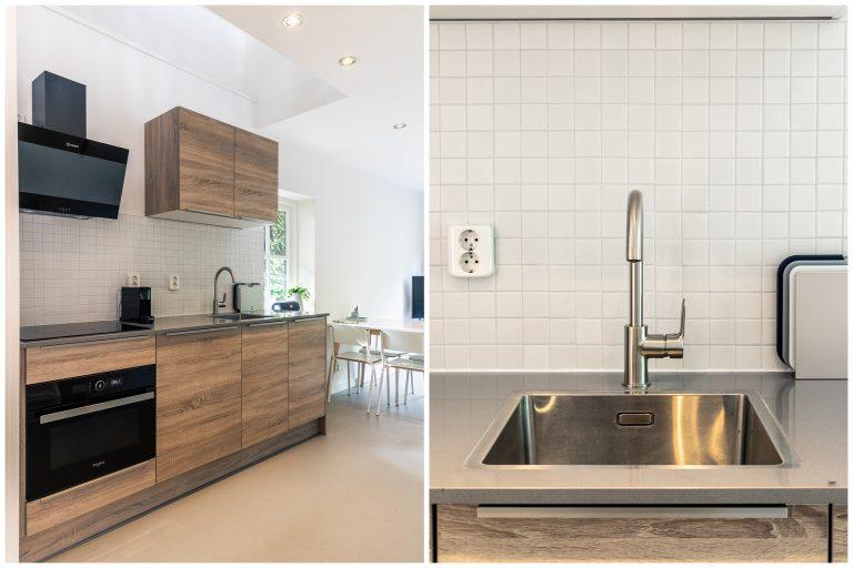 Antonia open keuken met luxe aanrecht bij Woudstee