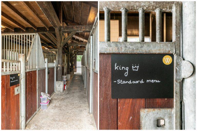 Antonia paardenstal naambord King merrie bij Woudstee