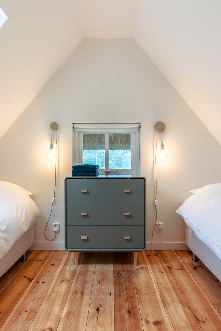 Tweepersoons slaapkamer Antonia bij Woudstee